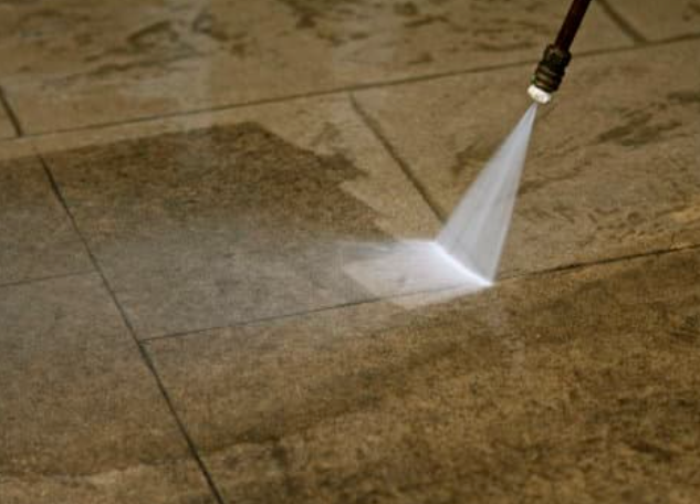 this image shows parking lot pressure washing in folsom, ca
