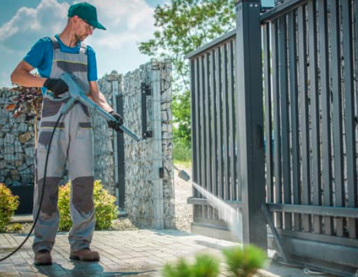 This is a picture of Folsom soft pressure washing.