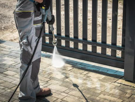 This is a picture of pressure washing service in Lincoln, CA.